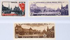Russia union soviétique 1946 1011-3 1029-31 victory parade Moscow victoires parade MNH