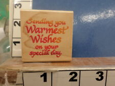 saying MAY YOUR BIRTHDAY.......  RUBBER STAMP 3j