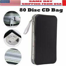 80 Sleeve Disc CD DVD Carry Case Holder Storage Organizer Bag Ring Binder Book