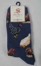 SOCKSMITH Women's Novelty Chicken Hen Graphic Cotton Crew Socks Shoe Sz 5 - 10.5