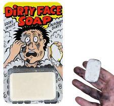 Savon salissant - Savon blanc qui lave noir - Dirty face soap - Farce et attrape
