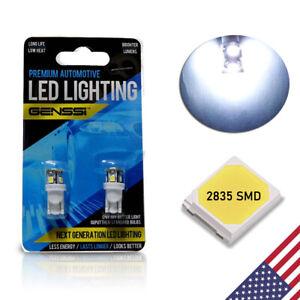 Genssi LED License Plate Tag Light Bulb for Jeep Dodge Chrysler W5W 168 2825 194