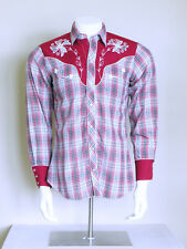 vtg 70s H BAR C pearl snap arrow pockets embroidered PSYCHOBILLY western shirt M