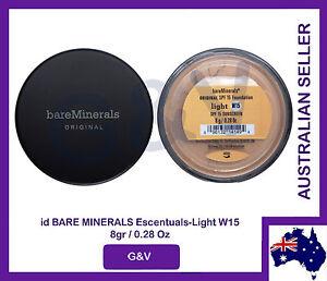 2 x id bare minerals escentuals BareMinerals Light W15 8gr/0.28 Oz. FREE POST