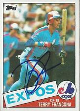 Terry Francona Montreal Expos 1985 Topps Signed Card