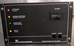 LEYBOLD TURBOTRONIK NT-150/360 VH CONTROLLER 90DAYWARRANTY FREESHIP WATCH VIDEO