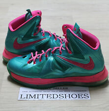 the best attitude e1be5 80879 NIKE LEBRON X 10 ID DIAMOND COLLECTION EMERALD PINK 578346-992 US 11 bhm  prism