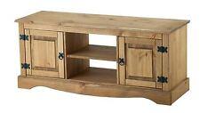 Corona 2 Door 1 Shelf flat Screen Tv Unit Mexican Pine Solid Wood Furniture