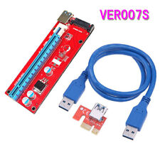 VER007S PCI Express 1X to 16X PCI-E Extender Riser Card USB 3.0 Adapter Cable