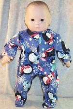 """Doll Clothes Baby Made 2 Fit American Girl Boy 15"""" Bitty Twin Pajamas Penguins"""