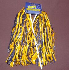 New Beistle Football Cheerleader Party Shaker Pom Pom 2pc Blue Yellow