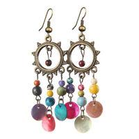 Vintage Ethnic Bohemian Boho Womens Tassel Ear Drop Dangle Long Earrings Jewelry