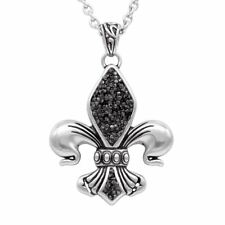 black & bright fleur-de-lis necklace By Controse