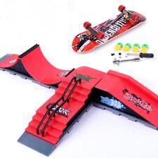 Mini Skatepark Park Ramp for Finger Board Skateboard Parts Set Kids Toy Gift