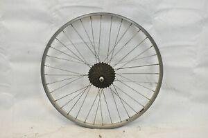 "Alexrims 2000 Rear 26"" MTB Bike Wheel & 8S Hub Silver OLW135 20mm 36S AV Charity"