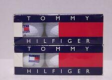 VTG 90s Tommy Hilfiger Golf Balls Box Set Contains 3 Balls #2 , #4  OG Logo New