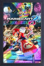 NINTENDO WII SUPER MARIO KART 8 DELUXE 13x19 FRAMED GELCOAT POSTER VIDEO GAME!!!