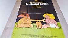 LE CHAUD LAPIN !  affiche cinema comedie erotique 1974