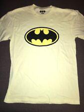 New Men's DC Comics Batman Classic Logo Retro T Shirt Yellow Sz S