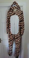 Adulto Tigre Mono Y Capucha Waites Lencería Talla L Pijamas Pelele Vestido de fantasía