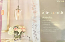 allen + roth Brushed Nickel Clear Glass Bell Pendant Light