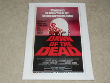 """Dawn of the Dead 1978 Mini-Poster, Romero, USA Print, 8"""" by 11"""" Ready to Frame!"""