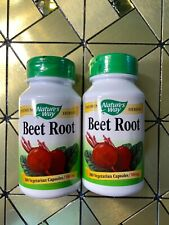 Nature's Way Beet Root Herbal Energizing Dietary Supplement 100 Capsules X2 Pack