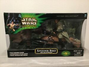 Star Wars Luke Skywalker with Speeder Bike POTJ 2001 12""