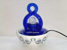 Feng Shui - 2016 Blue Lucky Figure 8 Water Feature / Fountain for Prosperity