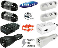 Original Samsung Galaxy S8 S9 Note 8 Plus Fast Car Wall Charger OEM Type-C Cable