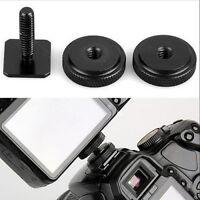 "1/4"" inch Dual Nuts Tripod Mount Screw To Flash Camera Hot Shoe Adapter FO"