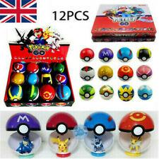12Pcs Pokemon Ball Set Pokeball Figures (UK Seller)