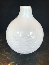 Crate And Barrel White Round Vase