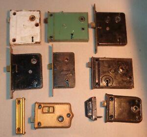 Mixed lot 8 Vintage Antique Old Metal Door Knob Lock Mortise Mechanisms  Russwin