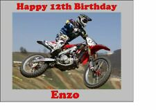Personalised Motorcross Motocross Racing Edible Cake Topper Easy Peel Icing