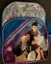 """1D One Direction Backpack Purple with Metallic Trim 16"""" New w/ Tag 2013"""