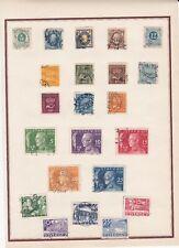 F66 SUEDE SVERGE Petite collection sur charnières 22 timbres Oblitérés