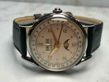 VINTAGE SS 1950s LENONIDAS TRIPLE DATE MOONPHASE WATCH