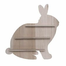 Scandi Wooden Bunny Shelf Display Decorative Childrens Bedroom Nursery Room Gift