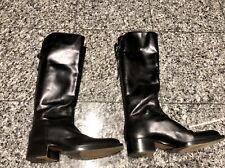 SARTORE Paris Black Leather Tall Riding Boots