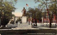 SAVANNAH GEORGIA~OGLETHORPE MONUMENT POSTCARD-1910s