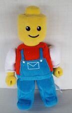 "Lego Mini Figure Yellow Head Moveable Hands Red Shirt Blue Pants  Plush Doll 12"""