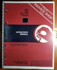 John Deere 850 Sn 16001- 950 Sn 20001- 1050 Sn 11001- Tractor Operator Manual 84