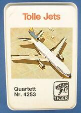 Quartett - Tolle Jets - TIGER - Nr. 4253 - Flugzeug Kartenspiel Quartettspiel