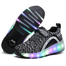 Wheely's Jazzy Kids Girls Boys LED Light Heelys Roller Skate Shoes SNEAKERS Gift Black EUR 33 UK 1