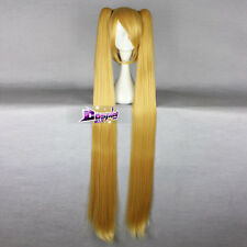 Golden Blonde Hair for VOCALOID Akita Neru Anime Cosplay Wig with Long Ponytails