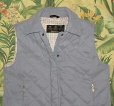 Womens BARBOUR Blue Full Zip Quilt Waist Coat Vest US 10