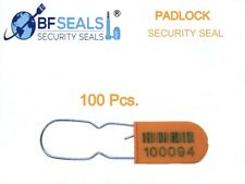 Plastic Padlock A Security Seal Eco 500 Pcs Orange Numbered And Barcode Bfs