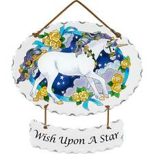 "Wish Upon a Star Unicorn Suncatcher by Joan Baker Designs 9"" x 6.5"" ~Retired~"