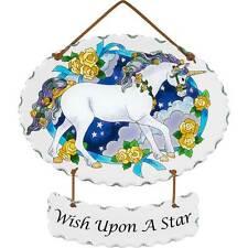 "Wish Upon a Star Unicorn Suncatcher by Joan Baker Designs 9"" x 6.5"""